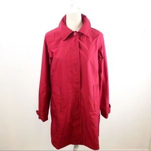 L.L. Bean Waterproof Red Rain Coat Women's Size XS